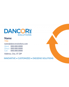 Dancor Solutions Business Cards